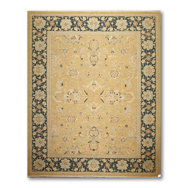 Pure Wool Reversible Hand Knotted Soumak Oriental Area Rug - multi
