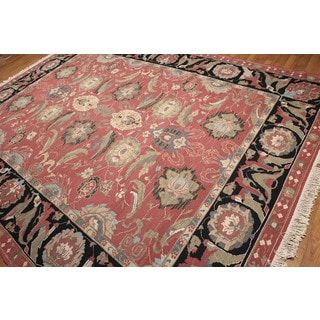 Hand Knotted Pure Wool Reversible Soumak Oriental Area Rug (9'x12')