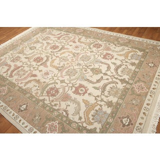 Traditional Craftsman Hand Knotted Reversible Soumak Oriental Area Rug - multi