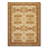Classic Traditional Hand Woven Needlepoint Aubusson Area Rug - 6'x9'