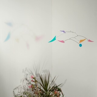 Opulus Collection Rainbow Riots Hanging Kinetic Art Mobile - Small
