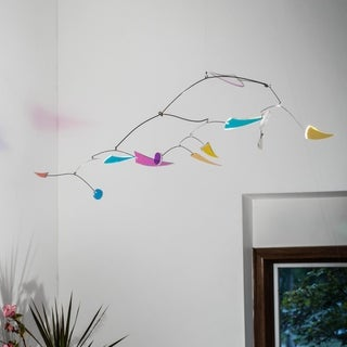 Canneto Studios' Opalus Collection - Hanging Kinetic Art Mobile - Color Dance - Small