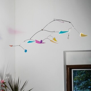 Opulus Collection Color Dance Hanging Kinetic Art Mobile - Small