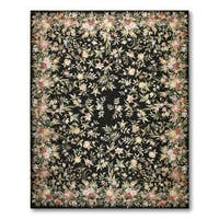 """Hand Woven Classic Country Cottage Needlepoint Aubusson Area Rug  (9'x12'3"""")"""