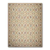 Classic Traditional Glam Hand Woven Needlepoint Aubusson Area Rug - multi