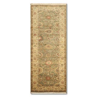 "Eclectic Global Glam Hand Knotted Persian Oriental Runner (4'x11'9"")