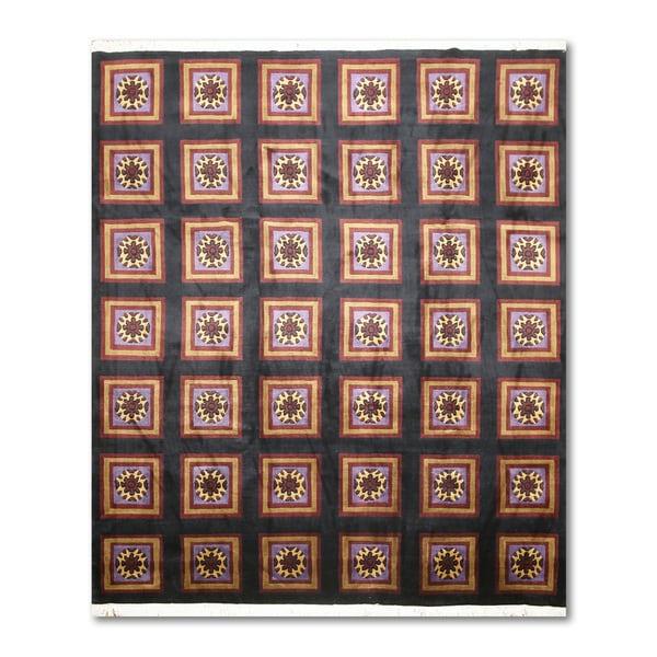 Craftsman Boho Hand Knotted Tibetan Area Rug - 8'x10'