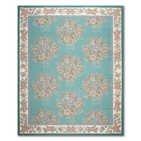 Transitional Glam Hand Woven Needlepoint Aubusson Area Rug - 8'x9'9""