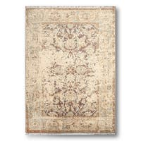 Erased Pattern Distressed Eclectic Modern Oriental Area Rug - 6' x 9'