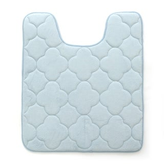 "Stephan Roberts Embroidered Memory foam Bath Mat, 21"" x 24"" Contour"