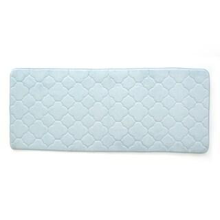 "Stephan Roberts Embroidered Memory foam Bath Mat, 24"" x 60"""