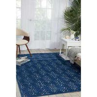 "Kelly Ripa Home Interlock Navy Area Rug by Nourison - 3'6"" x 5'6"""