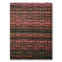 Pure Wool Contemporary Abstract Oriental Area Rug (6'x9') - multi - 6' x 9'