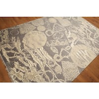 Glam Shabby Chic Abstract Modern Oriental Area Rug (6'x9') - 6' x 9'