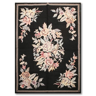 Traditional Victorian Pure Wool Needlepoint Area Rug (4'x6')
