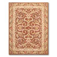 "Classic French Country Hand Woven Needlepoint Area Rug (3'11""x5'11"")"