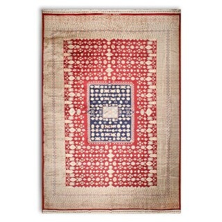 Eclectic Tribal Afgan Hand Knotted Pure Wool Oriental Area Rug - 12'X18'