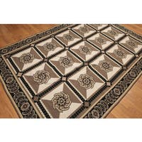 Formal Victorian Pure Wool Needlepoint Area Rug - 6'x9'