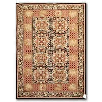 Pure Wool Hand Woven Traditional Needlepoint Area Rug - 4'x6'