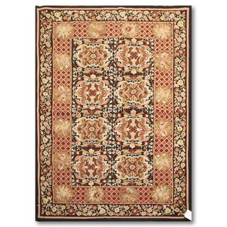 Pure Wool Hand Woven Traditional Needlepoint Area Rug (4'x6')