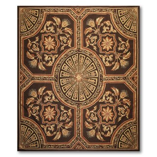 Traditional Formal Pure Wool Needlepoint Area Rug (8'x10')