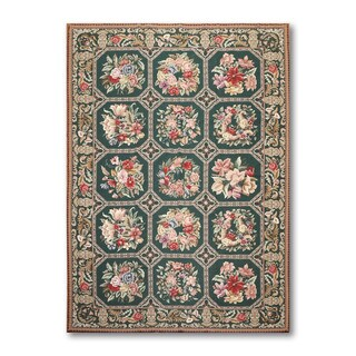 Formal Traditional French Country Needlepoint Area Rug