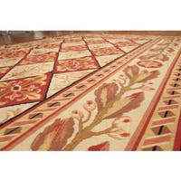 Classic French Country Needlepoint Pure Wool Area Rug - 6'x9'