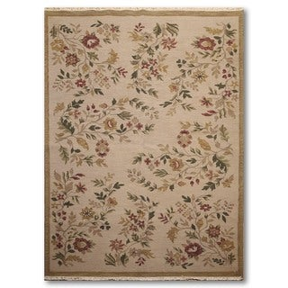 Hand Knotted Nourison Nourmak Reversible Soumak Oriental Area Rug (6'x9')