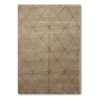Hand Knotted Ash Quilted Tufenkian Barbara Barry Tibetan Area Rug  (6'x9')