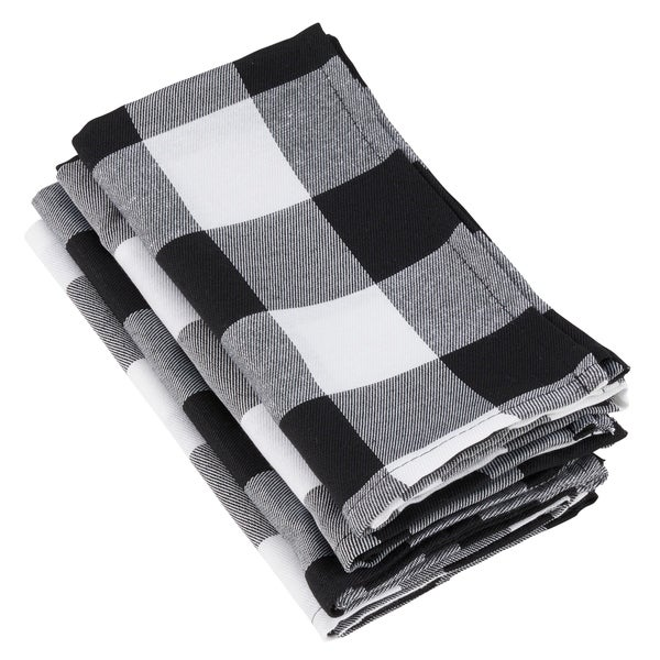 Kitchen Dining Black Red Napkin Set of 4 Buffalo Check by Park Designs