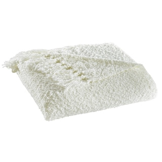 Stone Cottage Boucle Ivory Throw