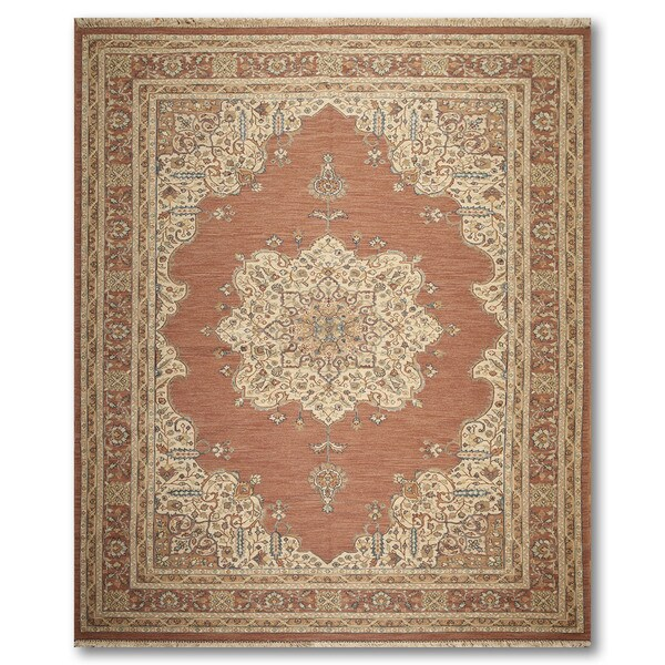 "Reversible Hand Knotted Soumak Oriental Area Rug (9'1""x12'2"")"