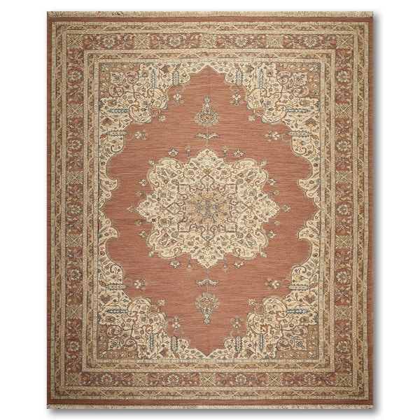 """Reversible Hand Knotted Soumak Oriental Area Rug - 9'1""""x12'2"""""""