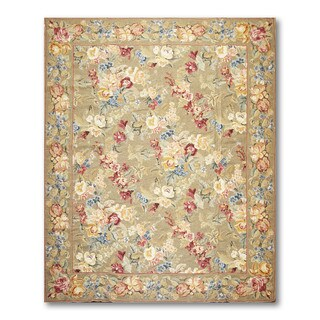 Rustic Country Cottage Hand Woven Needlepoint Aubusson Area Rug (8'x10')|https://ak1.ostkcdn.com/images/products/17982768/P24156720.jpg?_ostk_perf_=percv&impolicy=medium
