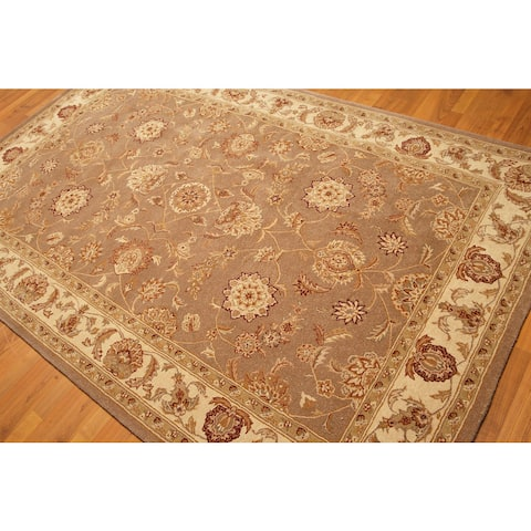 "Pure Wool Nourison Jaipur Designer Persian Oriental Area Rug - Light Brown/Beige - 5'6"" x 8'6"" - Light Brown/Beige - 5'6"" x 8'6"""