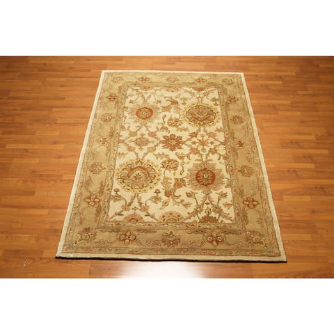 "Nourison Jaipur Craftsman Traditional Persian Oriental Area Rug Design HE09 OLI - Brown/Beige - 5'6"" x 8'6"" - 5'6"" x 8'6"""