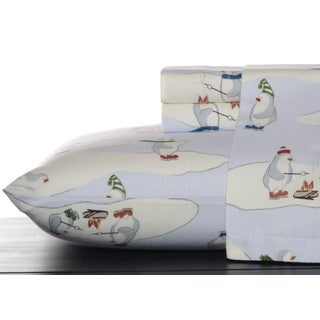 Eddie Bauer Skating Penguins Sky Sheet Set