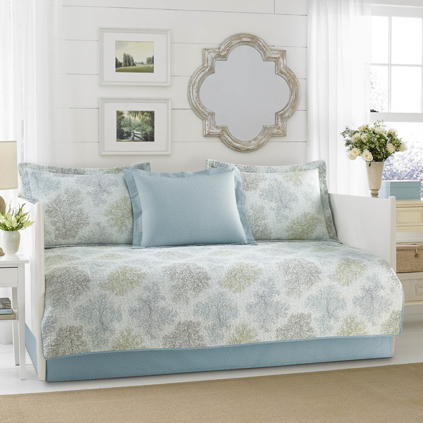 Miraculous Shop Laura Ashley Saltwater Blue 5 Piece Daybed Cover Set Interior Design Ideas Philsoteloinfo