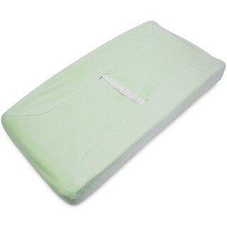 American Baby Company Heavenly Soft Chenille Fitted Contoured Changing Pad Cover - Celery - 2 Pack