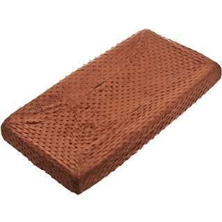 American Baby Company Heavenly Soft Minky Dot Changing Table Cover - Chocolate - 2 Pack
