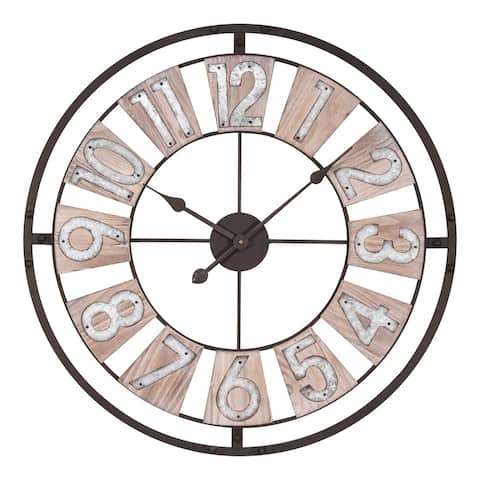 La Crosse Clock 404-4070 27.5 Inch Industrial Decorative Round Quartz Wall Clock