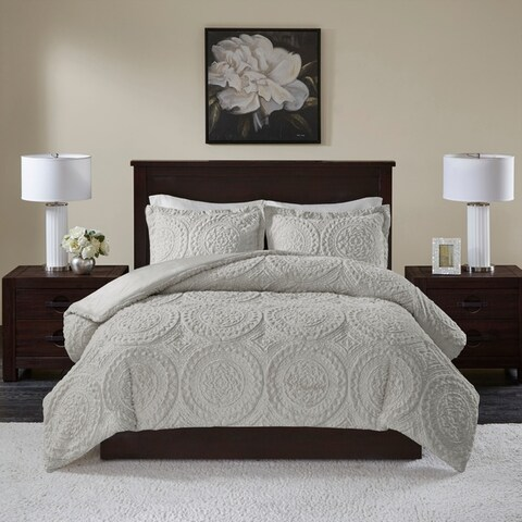 Madison Park Nova Embroidered Medallion Ultra Plush Comforter 3-Piece Set (2-Color Option)