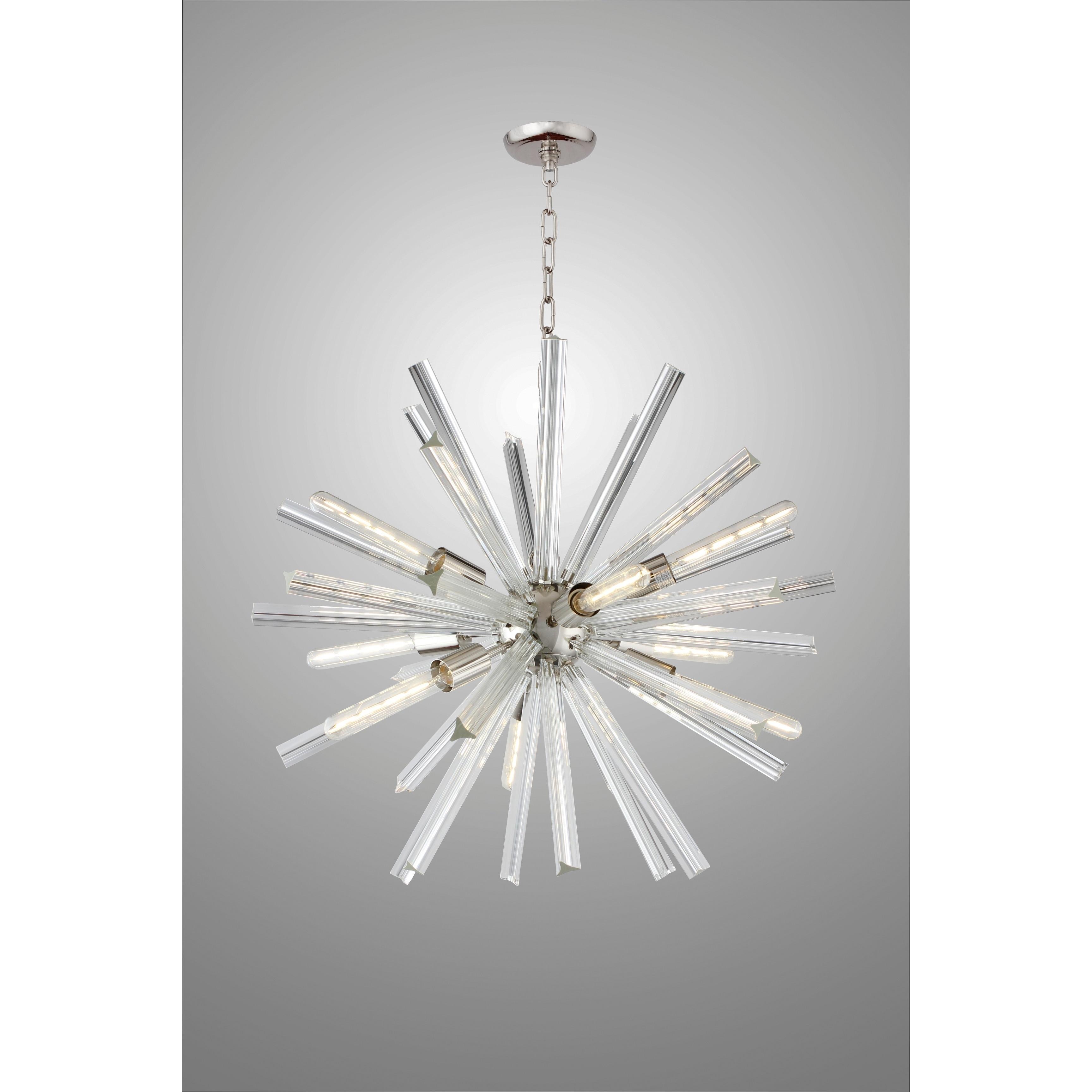Y Decor 9 Light Sputnik Chandelier In Polished Nickel Finish