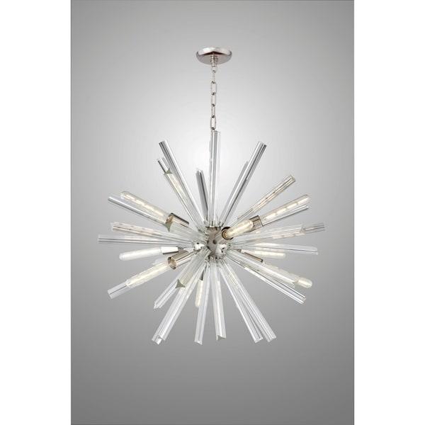 Y-Decor 9 Light Sputnik Chandelier in Polished Nickel Finish