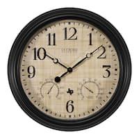 La Crosse Clock 404-3015TX 15 Inch Indoor/Outdoor TX Clock with Temperature and Humidity