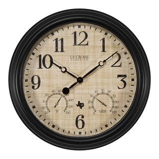 La Crosse Clock 404-3015TX 15 Inch Indoor/Outdoor TX Clock with Temperature and Humidity