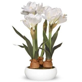 """20"""" White Amaryllis Flowers"""