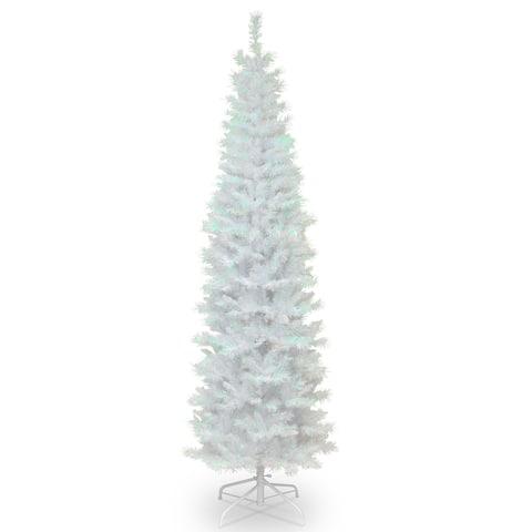7 ft. White Iridescent Tinsel Tree