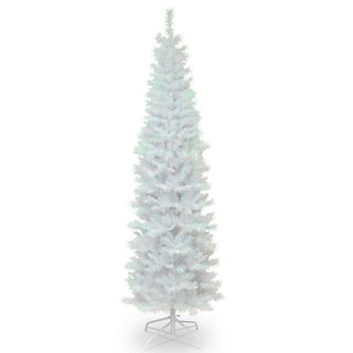 7 ft. White Iridescent Tinsel Tree
