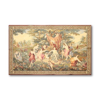 """French Country Style Tapestry Hand Woven Pure Wool Needlepoint Area Rug (4'3""""x6'7"""")"""